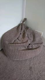 Dunelm brown cord beanbag