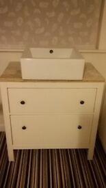 Bathroom washbasin and drawers