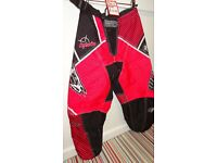 wulfsport race pants motocross motox quad pink junior youth kids size 24 approx age 7-8