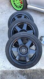 "Speedline ST2 wheels 17"" 5x100 subaru VW toyota"