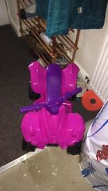 Pink electric brand new quad