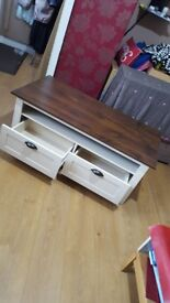 Brown and cream coffee table £125