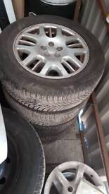 Subaru Legacy BH5 alloy wheels 16 inch with tyres all matching Michelin 2003