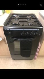BUSH black gas cooker