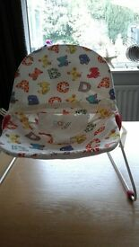 chad valley baby seat/ bouncer as new.