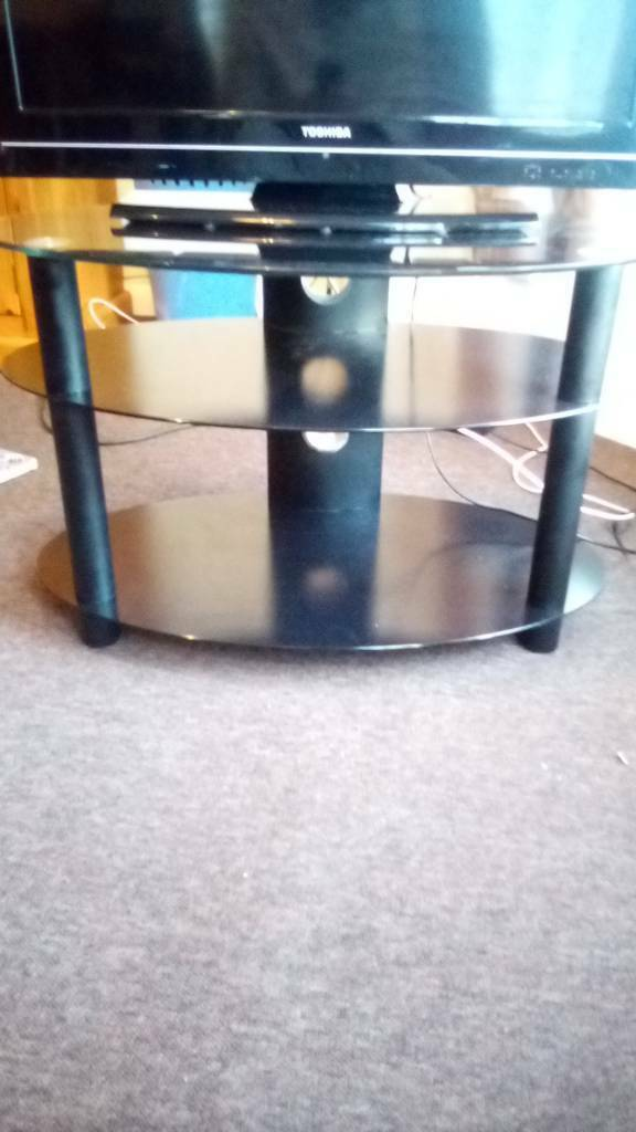 3 Level Black Glass Tv Stand In Great Yarmouth Norfolk Gumtree
