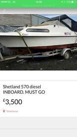 Shetland 570 with INBOARD diesel quick sale