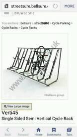 Bicycle storage rack.