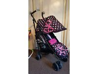 Cosatto pink baby girls buggy