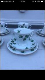 Vintage china Trios sugar Bowls cream jugs cake stands job lot of over 300 items £650
