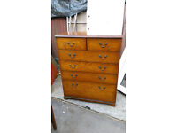 oak bedroom furniture 2 over 4 chest of drawers