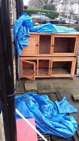 Large two tier rabbit hutch