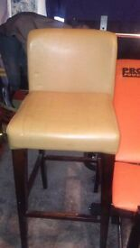 Bar stool chair with back rest.