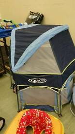 Graco play pen with tent