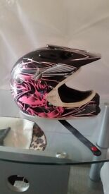 Girls motorbike kit and helmet