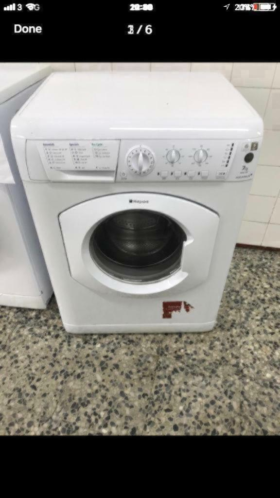 Hotpoint washing machine 7kg 1200rpm A+ class 4 month warranty free delivery and installation thanks