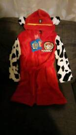 Paw patrol dressing gown NEW 1-2 Yr