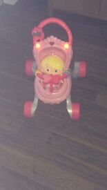 Princess baby walker and doll