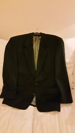 Gents Dress Jacket in Beautiful Bottle Green Cashmere - size 42, as new