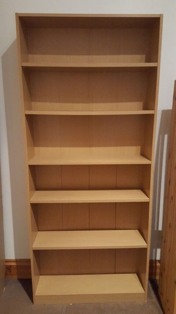 Wooden 6 Shelf Tall Bookcase - Excellent condition
