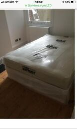 STOCK CLEARANCE DOUBLE DIVAN BED WITH MATTRESS