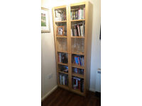 Ikea Glass Door Wood Veneer Cabinet / Bookcase - Excellent Condition