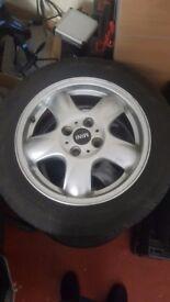 Mini cooper geniune alloy wheels