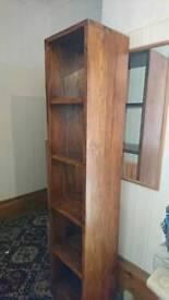 Wooden shelving unit