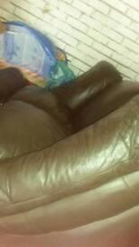 Chocolate Brown 3 & 2 Seater Sofa