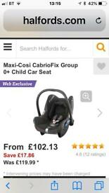 Maxi cosi cabriofix car seat + bundle