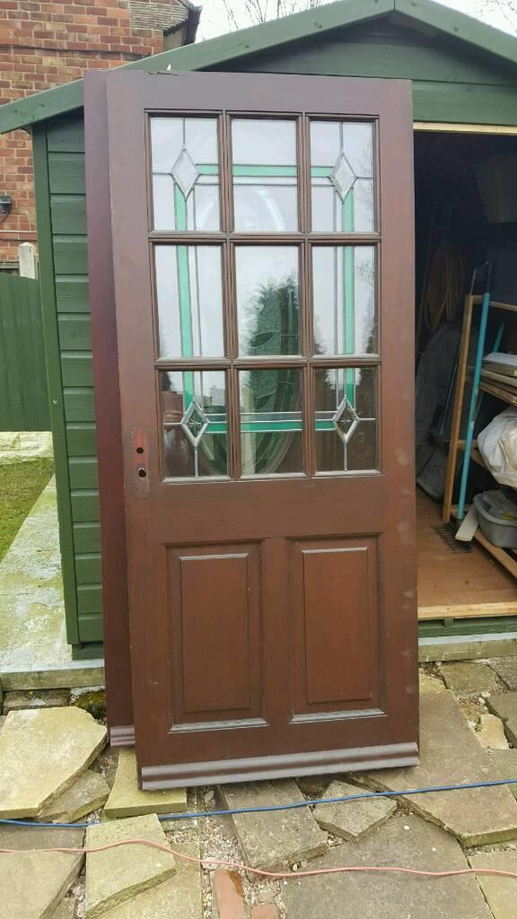 SOLID OAK EXTERIOR DOOR