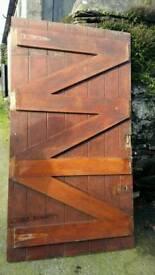 Hand made hardwood ledge and brace door