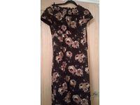 Boden Black Flower Dress