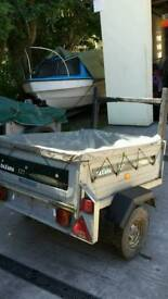 Daxara 127 galvanised tipping trailer. 4ft by 3ft.