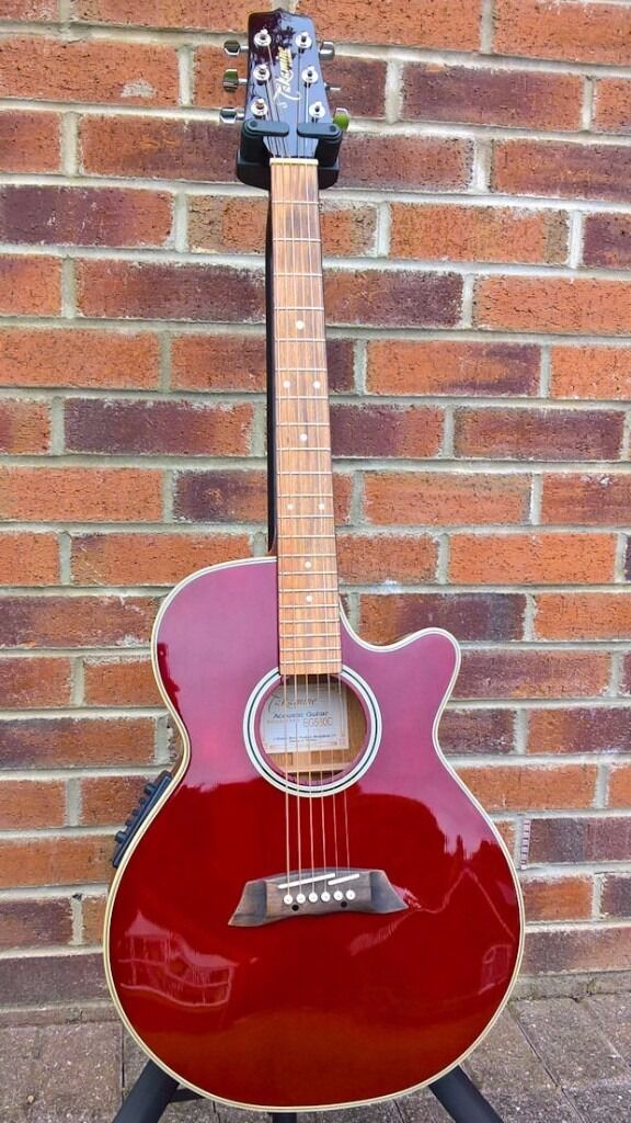 Takamine G Series EG560C Wine Red 6 Str Electro Acoustic Guitar