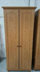 Tall solid wardrobe with shelf can deliver 07808222995