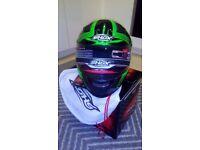 Shox sniper skar motorcycle helmet gloss green, brand new