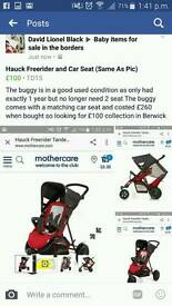 Hauck freerider and carseat