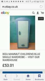 Blue wardrobe good condition