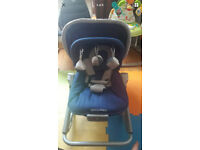 Maclaren blue rocker chair