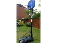 Basketball Net Height Adjustable with metal Hoop and backboard - Huffy Sports