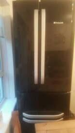 american black high gloss fridge freezer