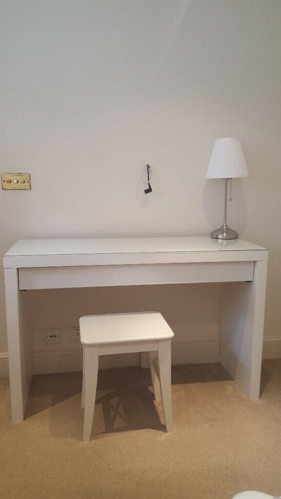 White Console Table Dressing Table Ikea Malm White Wooden Stool Ikea Ingolf Table Lamp In Chelsea London Gumtree