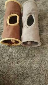 2 dog or cat tunnels