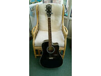 Westfield Acoustic guitar + stand and strap
