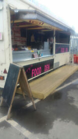 Large Catering Trailer Burger van,Kebab Van + Pitch(Great Business Opportunity)