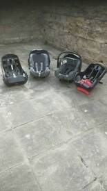 Graco Baby car seat and base x 2