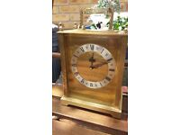"Large ""Junghans"" German quality brass plated quartz carriage clock, circa 1970's."