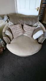 Sofa and swivel chair