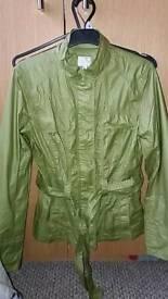 Light olive green jacket size 10